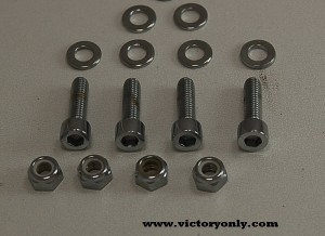 CHROME LICENSE PLATE TAG MOUNT BOLTS VCITORY MOTORCYCLE 002