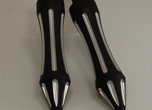Foot Pegs Flat Matte Black Spike