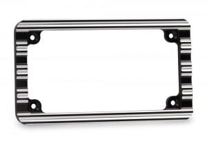 License Plate Frame - Black Contrast Cut