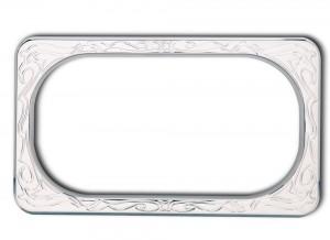 Engraved Ness License Plate Frames - Chrome