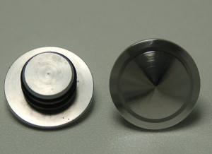 Axle Caps, Front Disk, Polished