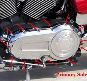 Primary Side Bolt Kit, Black