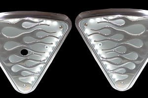 Lighted Wedge Cover, Flame