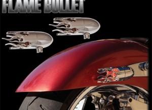 Bullet Lights Small Flame Bezel Black or Chrome