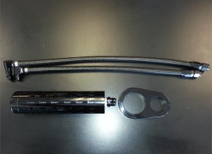 Oil Cooler Relocation Kit Blacked Out