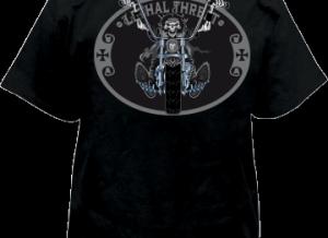 Lethal Threat skull logo over front chest pocket