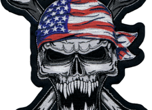 PATCH USA SKULL SMALL