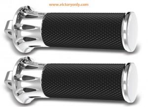 Foot Pegs Deep Cut Fusion Footpegs Black, Chrome