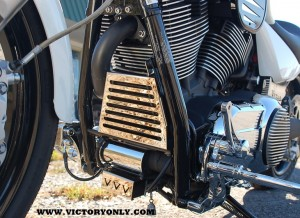 OIL COOLER COVER INSTALLED VICTORY MOTORCYCLE