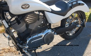 Installed Victory Motorcycle Vegas 2009 Model with Key Relocated using our bracket and harness