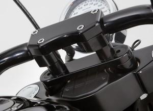 victory motorcycle handlebar adaptor for harley davisdon bars black custom