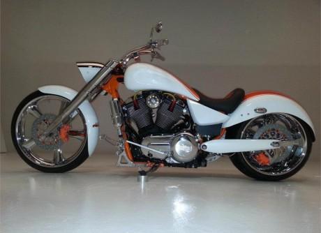 custom build victory motorcycle Rear Fender Forward controls Shift rod