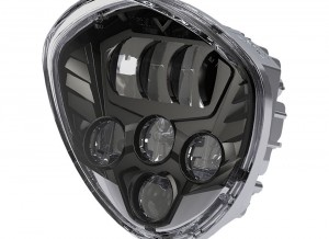 LED Headlight Kit Black Victory® Motorcycles Chrome, Blacked Out