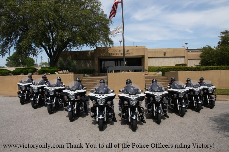 tyler texas police department victory police motorcycle motorcycles www.victoryonly.com Thank You to all of the Police Officers riding Victory!
