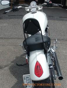 victory only custom motorcycle accessories VEGAS KINGPIN GUNNER HIGHBALL BACKREST SISSYBAR SISSY BAR RACK CHROME BLACK CUSTOM TALL