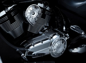 victory_motorcycle_engine_cover_custom_accessory_installed_chrome_key